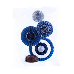 Navy Party Fans | www.bakerspartyshop.com
