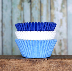 Solid Cupcake Liners: Ombre Blue