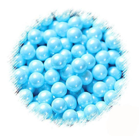 Light Blue Sugar Pearls: 7mm | www.bakerspartyshop.com