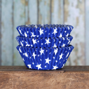 Star Cupcake Liners: Blue | www.bakerspartyshop.com