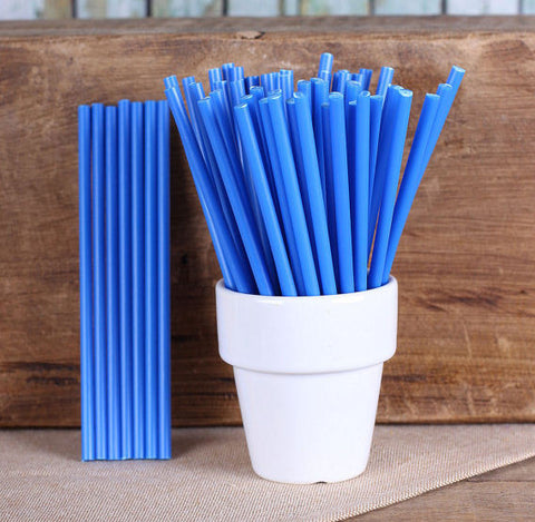"Bulk Blue Lollipop Sticks (4 1/2"") 