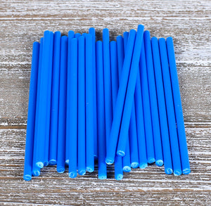 Blue Lollipop Sticks: 4.5"