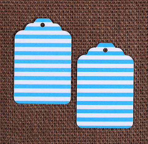 Blue Gift Tags: Stripe | www.bakerspartyshop.com