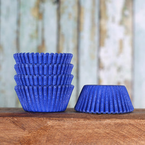 Mini Royal Blue Cupcake Liners | www.bakerspartyshop.com