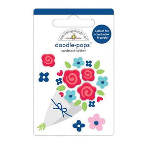 Doodle-Pops Bouquet of Flowers Sticker | www.bakerspartyshop.com
