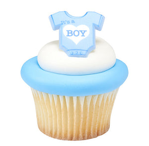 Baby Boy Cupcake Topper Rings | www.bakerspartyshop.com