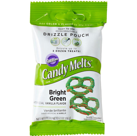 Mini Bright Green Candy Melts | www.bakerspartyshop.com