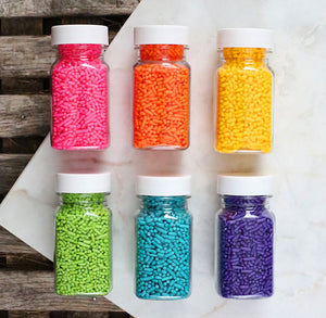 Bright Rainbow Jimmies Sprinkles Set | www.bakerspartyshop.com