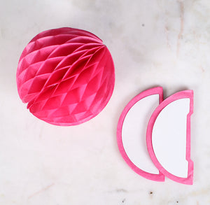 Hot Pink Honeycomb Tissue Balls: 3"