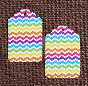 Bright Rainbow Gift Tags: Chevron | www.bakerspartyshop.com