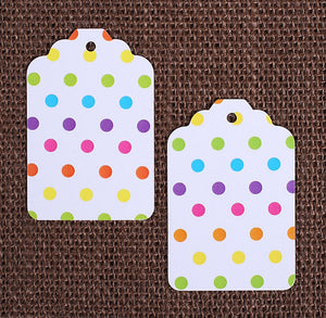 Bright Rainbow Gift Tags: Polka Dot | www.bakerspartyshop.com