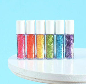 Mini Bright Rainbow Sprinkles Set: Sparkling Sugar | www.bakerspartyshop.com