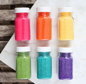 Bright Rainbow Sanding Sugar Set | www.bakerspartyshop.com
