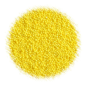 Bright Yellow Nonpareils | www.bakerspartyshop.com