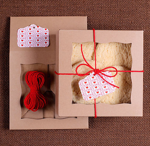 Mini Christmas Cookie Box Kit: Brown | www.bakerspartyshop.com