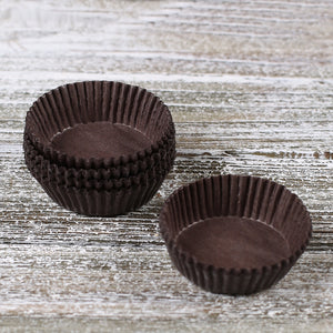 Small Brown Candy Cups | www.bakerspartyshop.com