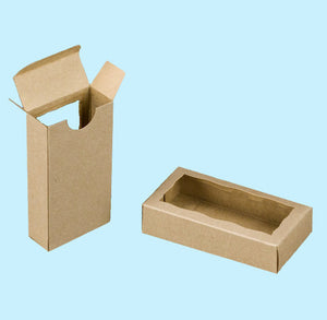 Rectangle Kraft Favor Boxes with Window | www.bakerspartyshop.com
