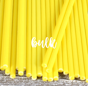 Bulk Yellow Lollipop Sticks: 6"