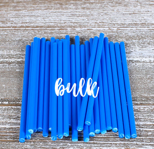 Bulk Blue Lollipop Sticks: 4.5"