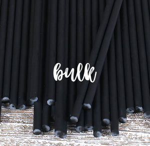 Bulk Black Lollipop Sticks: 6"