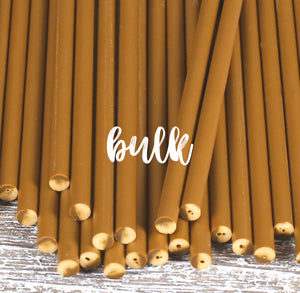 Bulk Gold Lollipop Sticks: 6"