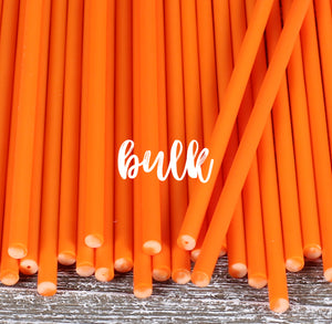 Bulk Orange Lollipop Sticks: 6"