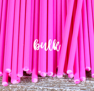 Bulk Pink Lollipop Sticks: 6"