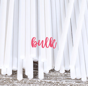 Bulk White Lollipop Sticks: 6"