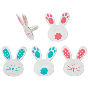 Spring Bunny Cupcake Topper Rings | www.bakerspartyshop.com