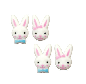 Bunny Sugar Toppers: Boy + Girl | www.bakerspartyshop.com