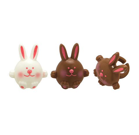Cute Bunny Cupcake Topper Rings | www.bakerspartyshop.com