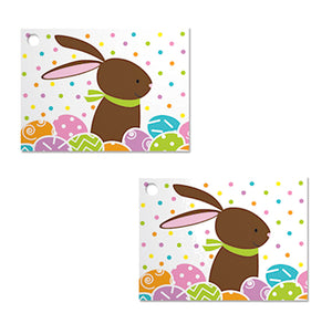 Easter Gift Tag Cards: Chocolate Easter Bunny | www.bakerspartyshop.com