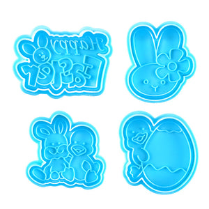 Happy Easter Cookie Cutter Stampers | www.bakerspartyshop.com
