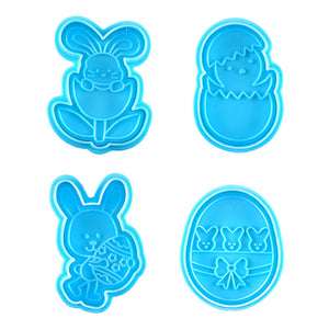 Easter Cookie Cutter Stampers: Chick + Bunny | www.bakerspartyshop.com