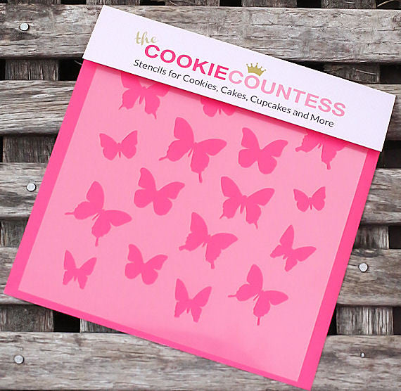Butterfly Cookie Stencil Cookie Countess Stencils The