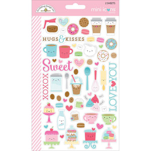 Mini Icons Sweets Stickers | www.bakerspartyshop.com