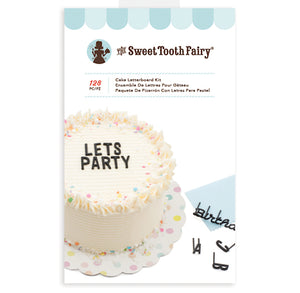 Sweet Tooth Fairy Cake Letterboard Kit | www.bakerspartyshop.com