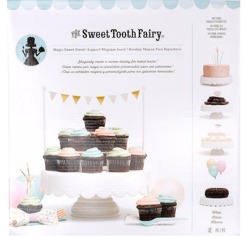 Sweet Tooth Fairy White Cake Stand: Bonus Set | www.bakerspartyshop.com