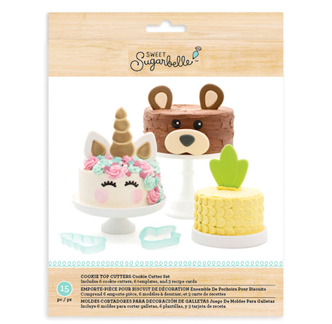 Sweet Sugarbelle Cake Top Cookie Cutters | www.bakerspartyshop.com