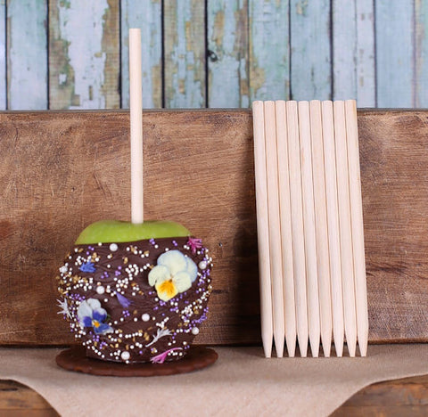 "Bulk Wooden Candy Apple Sticks (5 1/2"") 