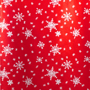 Snowflake Candy Bar Wrappers: Red | www.bakerspartyshop.com