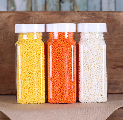 Candy Corn Jimmies Sprinkle Set | www.bakerspartyshop.com