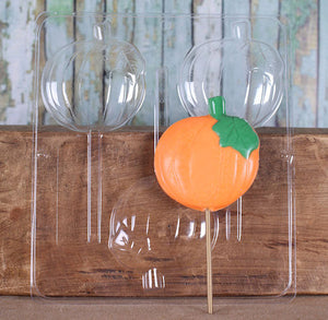 Pumpkin Lollipop Mold | www.bakerspartyshop.com