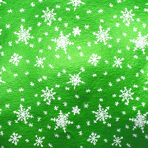 Snowflake Candy Bar Wrappers: Green | www.bakerspartyshop.com