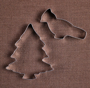 Cardinal and Christmas Tree Cookie Cutters | www.bakerspartyshop.com