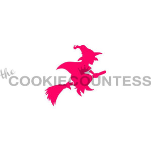 Flying Witch Cookie Stencil | www.bakerspartyshop.com