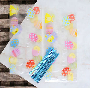 Easter Cellophane Bags & Twist Ties: Small | www.bakerspartyshop.com
