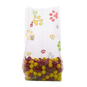 Rainbow Paw Prints Cellophane Bags & Twist Ties | www.bakerspartyshop.com