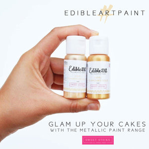 Metallic Glamorous Gold Edible Art Paint | www.bakerspartyshop.com