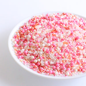 Sprinklefetti Champagne Kisses Pink Sprinkle Mix | www.bakerspartyshop.com